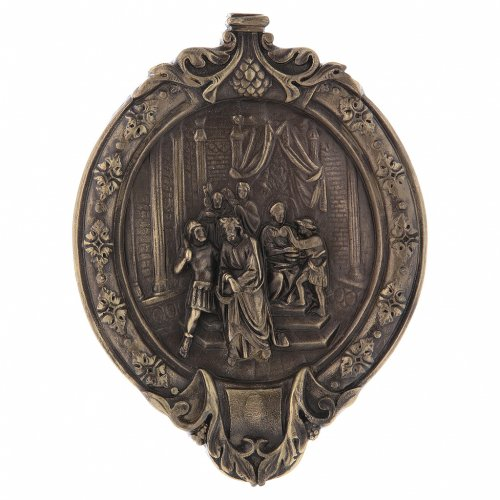 Via Crucis 15 stazioni pasta di legno e resina bagno bronzo s1