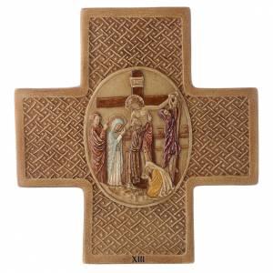 Via Crucis 15 stazioni pietra Bethléem 22,5 cm s13