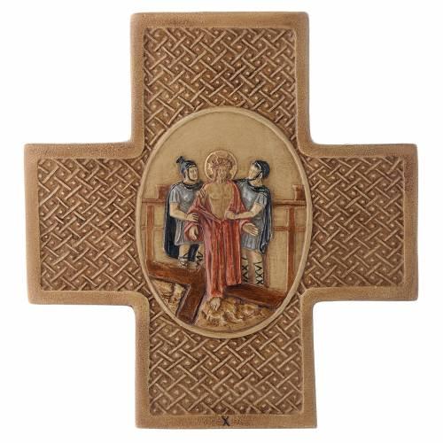 Via Crucis 15 stazioni pietra Bethléem 22,5 cm s10