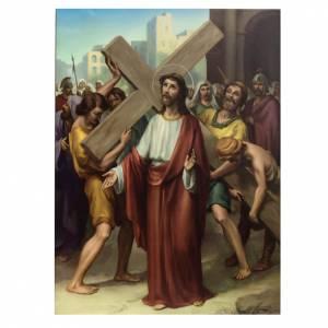 Via Crucis 15 stazioni stampa legno s2