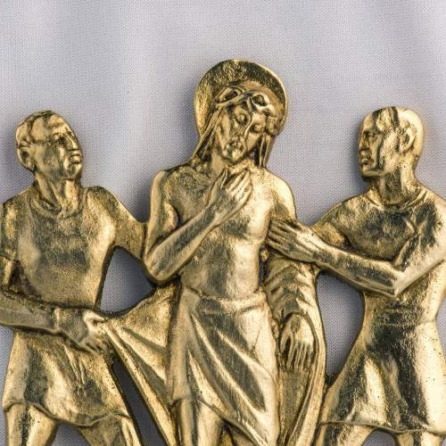 Vía Crucis latón fundido 17x20 cm - 15 estaciones s2