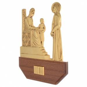 Vía Crucis: Vía Crucis latón fundido 24x30 cm sobre base 15 es