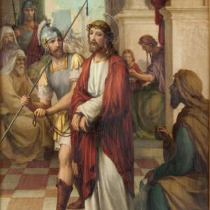 Via Crucis quadri legno tipo pittura 15 stazioni s2