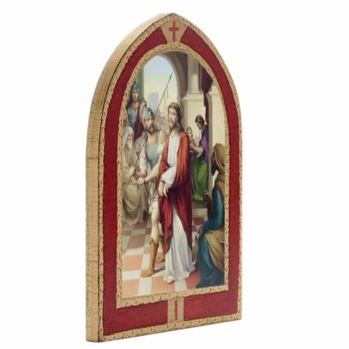 Via Crucis: tavole ogivali legno 15 stazioni s3