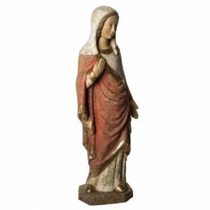 Vierge Annonciation Gothique 74 cm bois ancien Bethléem s2