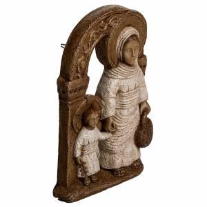 Vierge de Nazareth veste blanche 35 cm pierre Bethléem s2