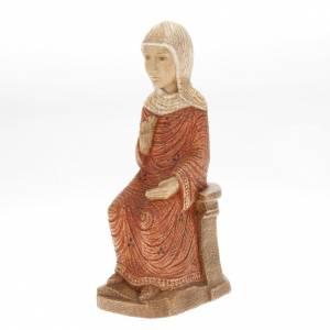 Crèches Monastère de Bethléem: Vierge Marie Crèche d'Autun bois peint