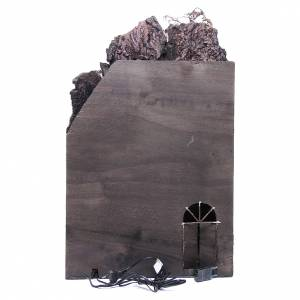 Village for Neapolitan Nativity with light and fountain measuring 60x40x40cm s4