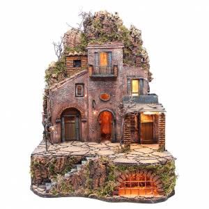 Village in the rocks for Neapolitan Nativity 70x50x50cm s1