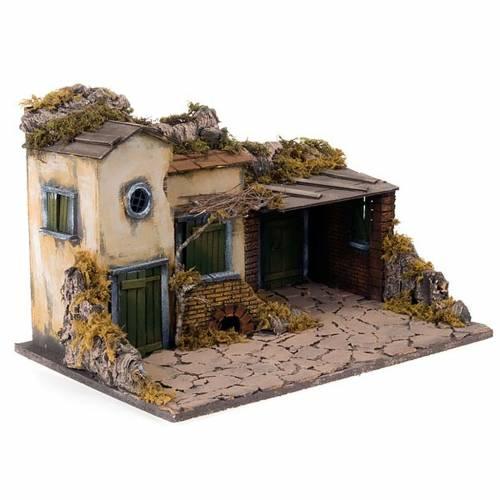 Village pour crèche avec étable 50x32x33 s7