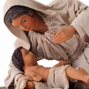 Belén napolitano: Virgen acostada con nino 24 cm