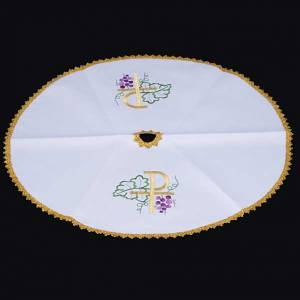 Voile de ciboire blanche ronde, Chi-Rho s3