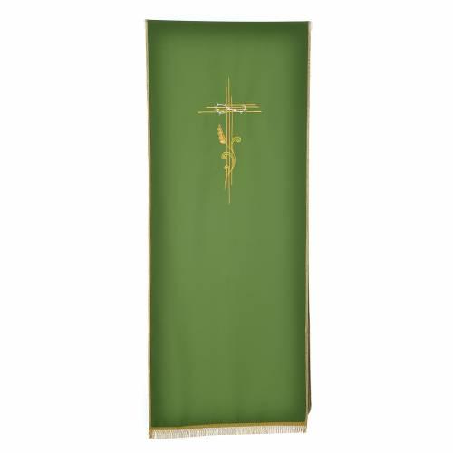 Voile de lutrin croix stylisée épis tressés s5