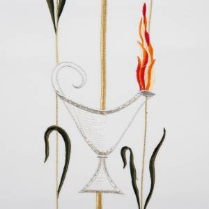 Voile de lutrin lampe épis raisins couleurs liturgiques s3