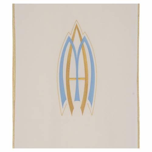 Voile de lutrin marial en tissu de polyester s2