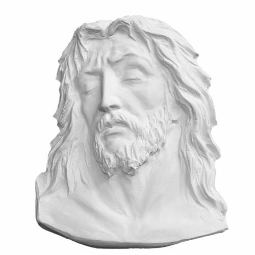 Volto di Cristo cm 24 rilievo marmo di Carrara s1
