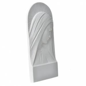 Volto di Maria 11 cm rilievo marmo bianco s2