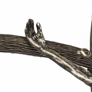 Vortragekreuze und Ständer: Vortragekreuz Pastoral Kreuz versilberten Bronze