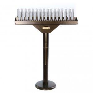 Amboni, inginocchiatoi, complementi d'arredo: Votivo elettrico 31 candele a 24Vcc pulsanti lampadine