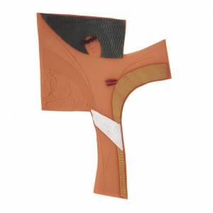 Wall cross in ceramic, Emmaus s1
