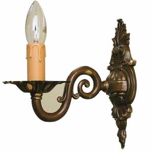Lamps and lanterns: Wall lamp with 1 branch, antique finish