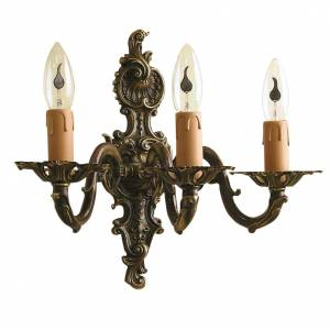 Lamps and lanterns: Wall lamp with 3 branches, classic, antique style
