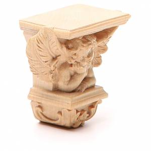Wall shelf for statues, Raffaello model, natural wax s4