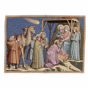 Wandteppiche: Wandteppich Anbetung der Könige Giotto 65x90cm