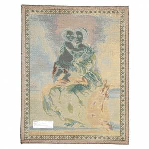 Wandteppiche: Wandteppich Gottesmutter des Rosenkranzes von Murillo 65x50cm
