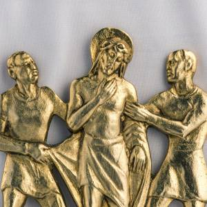 Way of the Cross: Way of the cross in brass, 17x20cm