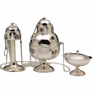 Weihrauchfässer, Weihrauchschiffchen: Weihrauchfass und Schiffchen Silber 800
