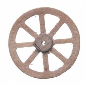 Wheel in wood measuring 5cm for Neapolitan Nativity s2