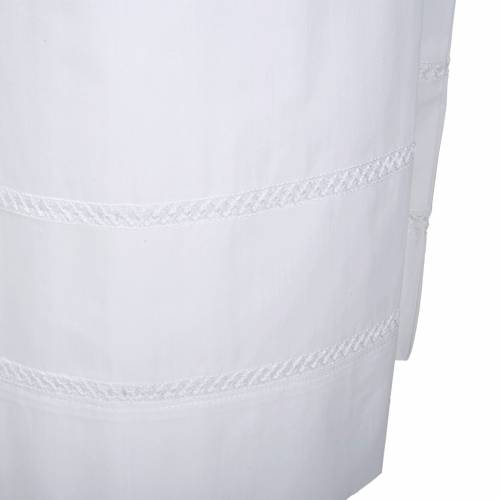 White alb cotton white embroidery s3