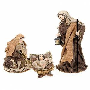 Golden hemp nativity set, 33cm s1