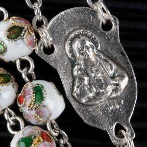 White cloisonné rosary s3