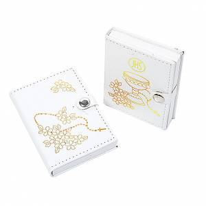 White rosary case 4 mm rosary beads s1