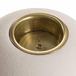 Świeczniki ceramika, szkło, pleksiglas: Świecznik szamot mosiądz model Ellisse 9 cm