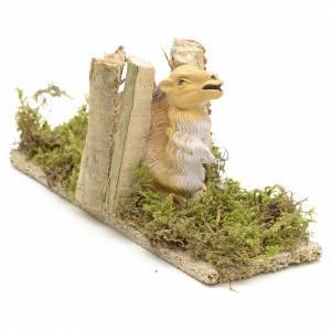 Zwierzęta do szopki: Wielbłąd leżący załadowany drewnem 10 cm