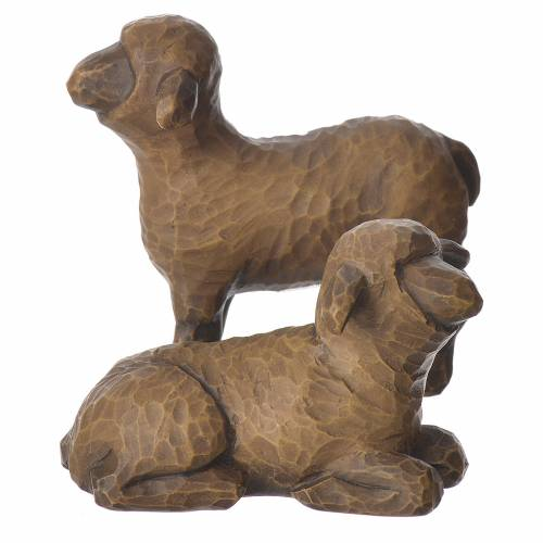 Willow Tree - Shepard and stable Animals (Pastore con animali) 19cm s6