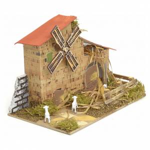 Wind mill for nativities 15x20x10cm s2
