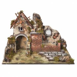 Watermills and windmills: Wind mill for nativities with drinking trough measuring 31x30x45cm