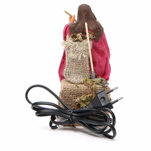 Woman sweeping, animated Neapolitan Nativity figurine 14cm s4