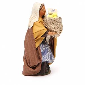 Woman with basket of lemons, Neapolitan nativity figurine 10cm s2