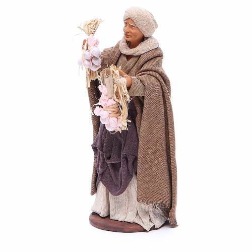 Woman with garlic for Neapolitan Nativity, 14cm s2