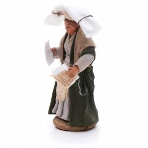 Woman with handkerchiefs, Neapolitan nativity figurine 10cm s2