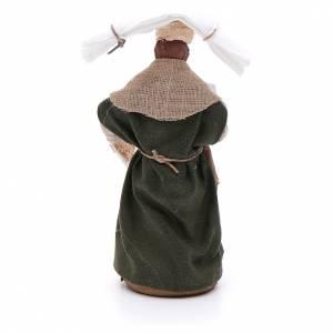 Woman with handkerchiefs, Neapolitan nativity figurine 10cm s3