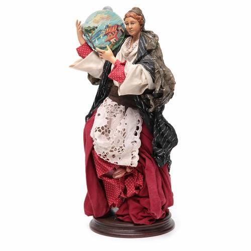 Woman with tamburine for Neapolitan Nativity 30cm s2