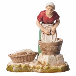 Women and trades 4 nativity figurines, 10cm Moranduzzo s2