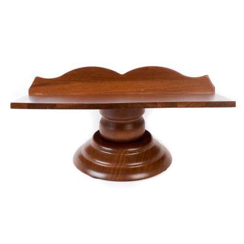 Wood book-stand- fixed and rotating s4