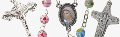 Murano glass rosaries